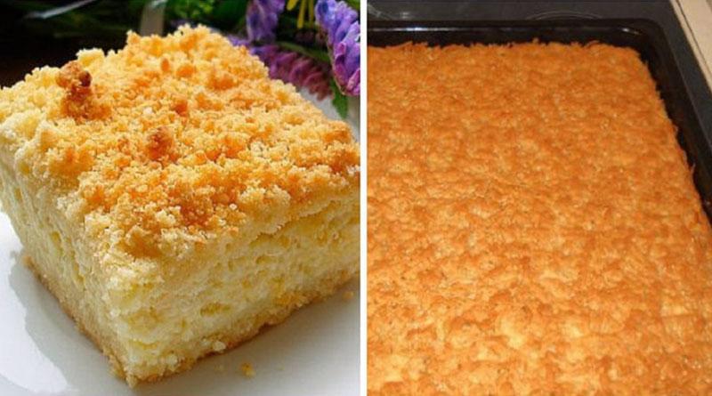 Пирог с творогом, который мы все любим