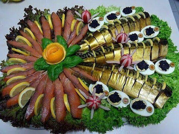 Как красиво оформить мясную, рыбную и фруктовую нарезки