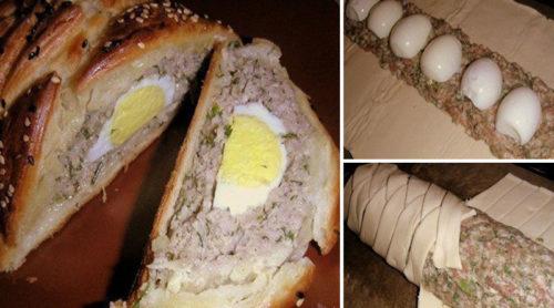 Мясной-рулет-с-яйцом