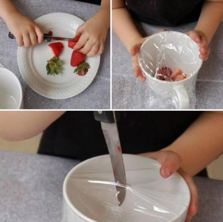 Несколькспособов применения пищевой пленки
