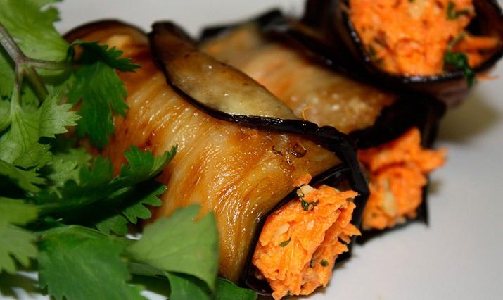 Отличные маринованные баклажаны с морковью