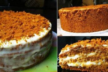 Бисквитный-торт-медовый