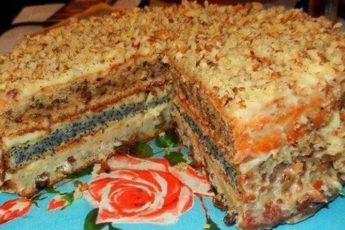 Популярный-трехслойный-домашний-торт