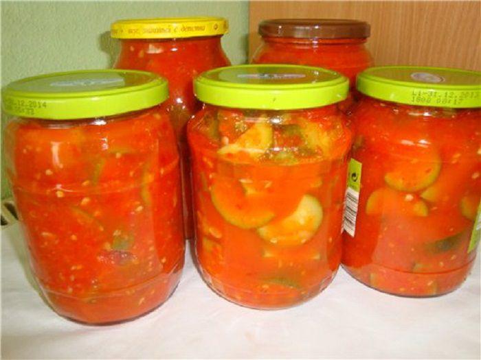 Изумительные кабачки в томатном соусе