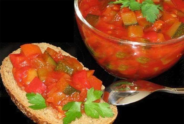 Салат из цукини и болгарского перца