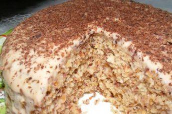 Ореховый-торт-за-полчаса
