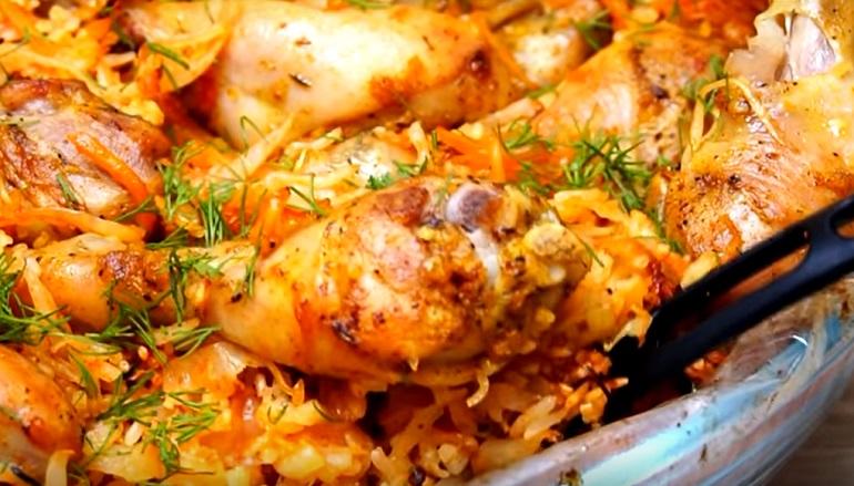 Рис с капустой и курицей: супер ленивый ужин в пакете