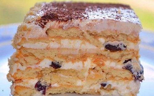 Торт-с-черносливом-без-выпечки