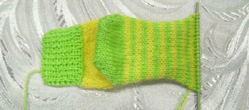 носки на двух спицах для начинающих