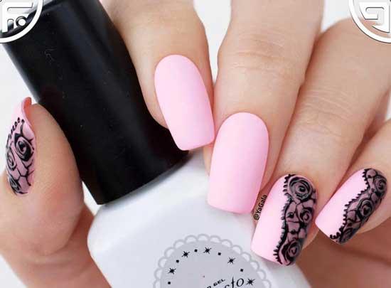 Розовый + черный