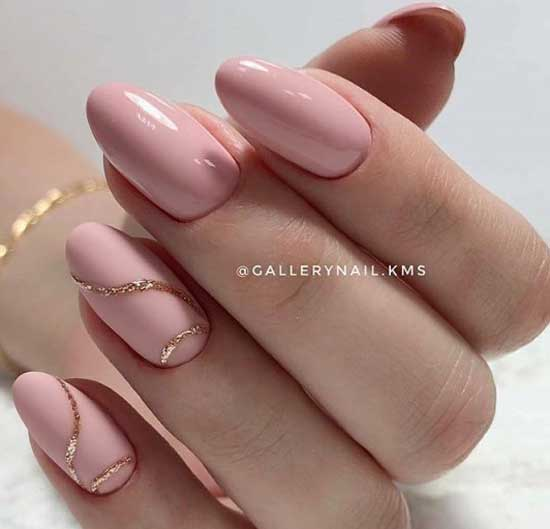 Розовый и золото - классная идея