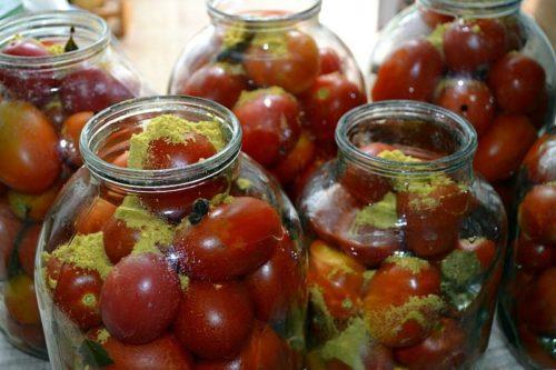 Рецепт маринованных помидор с горчицей