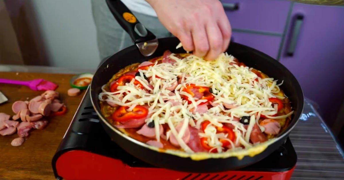 быстрая пицца на сковороде