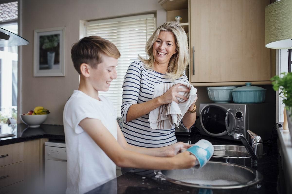 грязная посуда мыть
