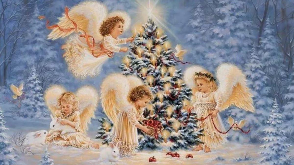Рождественский сочельник 6 января! Красивая музыкальная открытка! Православные праздники! - YouTube